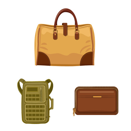 bitmap illustration of suitcase and baggage logo. Set of suitcase and journey bitmap icon for stock.