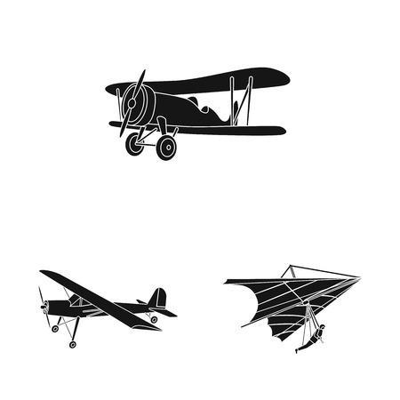 bitmap illustration of plane and transport icon. Collection of plane and sky bitmap icon for stock. Stok Fotoğraf