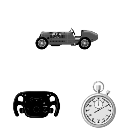 bitmap design of car and rally symbol. Set of car and race bitmap icon for stock. 写真素材