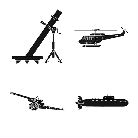 bitmap illustration of weapon and gun icon. Collection of weapon and army bitmap icon for stock.