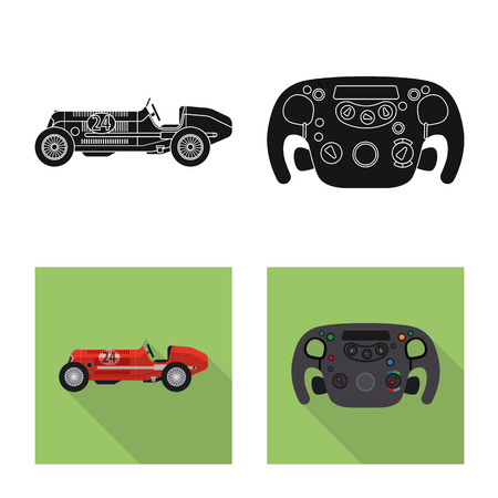 bitmap design of car and rally icon. Set of car and race stock bitmap illustration. 写真素材