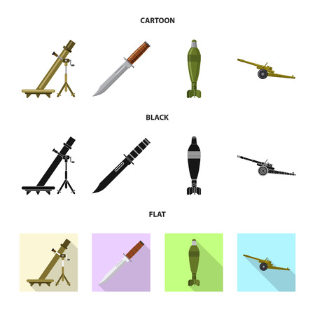 bitmap design of weapon and gun icon. Set of weapon and army stock bitmap illustration.