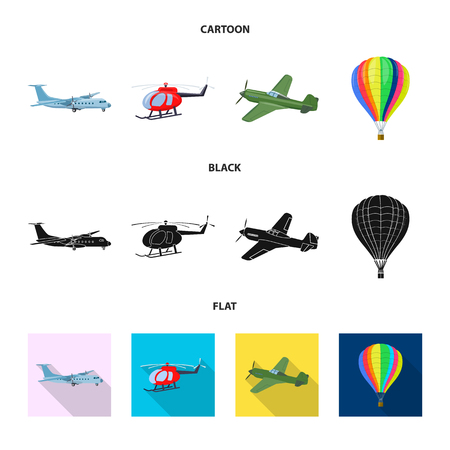 Isolated object of plane and transport symbol. Collection of plane and sky bitmap icon for stock. Stock Photo