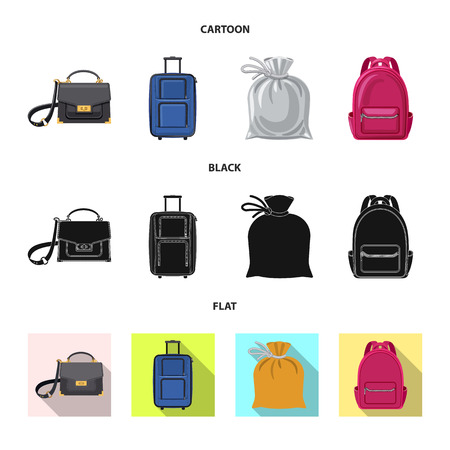 bitmap design of suitcase and baggage symbol. Collection of suitcase and journey bitmap icon for stock. Stock Photo