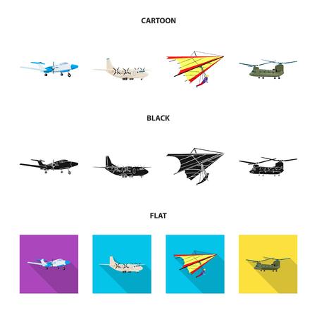 bitmap illustration of plane and transport symbol. Set of plane and sky stock symbol for web.