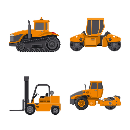 Vector design of build and construction symbol. Collection of build and machinery vector icon for stock. Ilustracja