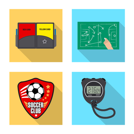 Isolated object of soccer and gear sign. Collection of soccer and tournament stock symbol for web.