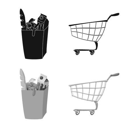 Vector design of food and drink symbol. Collection of food and store vector icon for stock. Illustration