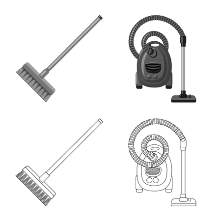 Isolated object of cleaning and service icon. Collection of cleaning and household vector icon for stock.