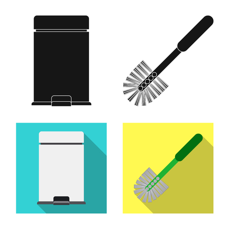 Isolated object of cleaning and service symbol. Set of cleaning and household vector icon for stock.