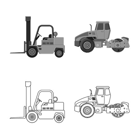 Vector illustration of build and construction logo. Collection of build and machinery stock vector illustration.