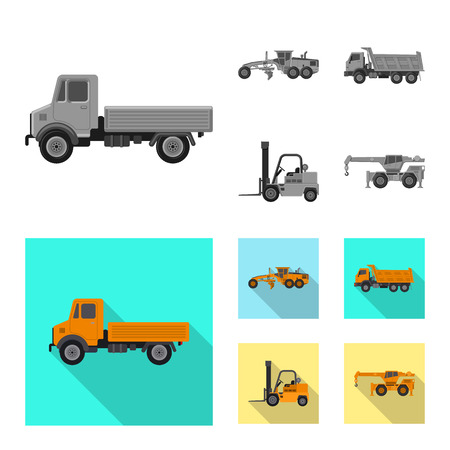 Isolated object of build and construction symbol. Set of build and machinery vector icon for stock.