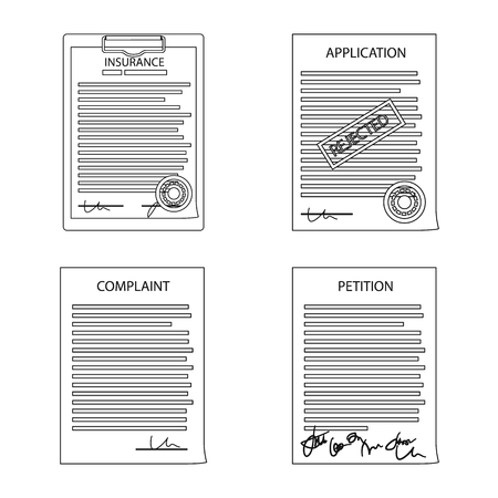 Vector design of form and document logo. Set of form and mark vector icon for stock.