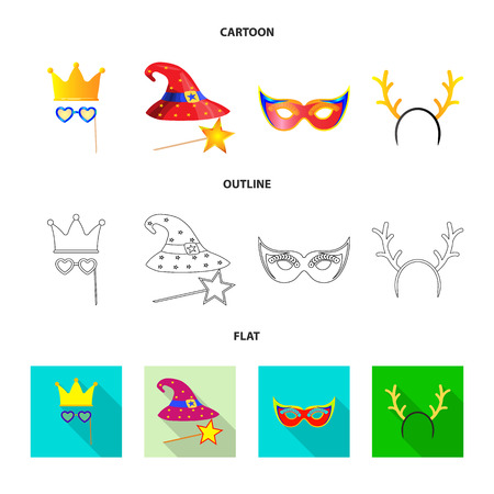 Vector design of party and birthday icon. Set of party and celebration vector icon for stock. 向量圖像