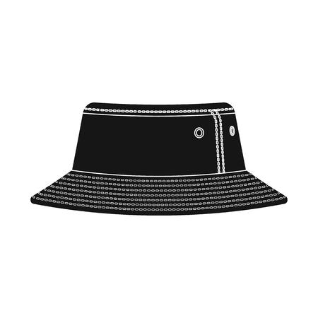 Vector design of headgear and cap logo. Set of headgear and accessory stock vector illustration. Illustration