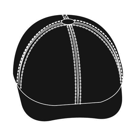 Vector design of headgear and cap logo. Collection of headgear and accessory stock vector illustration.