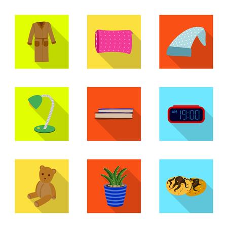 Conception de vecteur de rêves et logo de nuit. Ensemble de rêves et icône de vecteur de chambre à coucher pour le stock. Logo