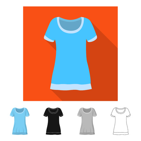 Vector design of woman and clothing sign. Set of woman and wear stock vector illustration. Vector Illustration