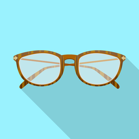 Vector illustration of glasses and frame symbol. Set of glasses and accessory stock symbol for web.