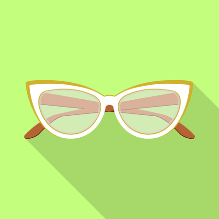 Vector design of glasses and frame icon. Set of glasses and accessory vector icon for stock.