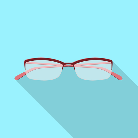 Vector design of glasses and frame logo. Collection of glasses and accessory stock vector illustration.