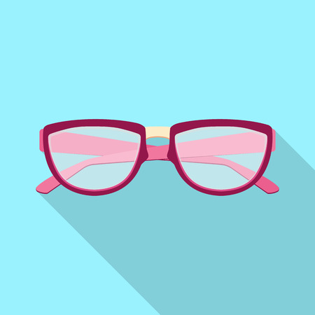 Isolated object of glasses and frame logo. Set of glasses and accessory vector icon for stock.