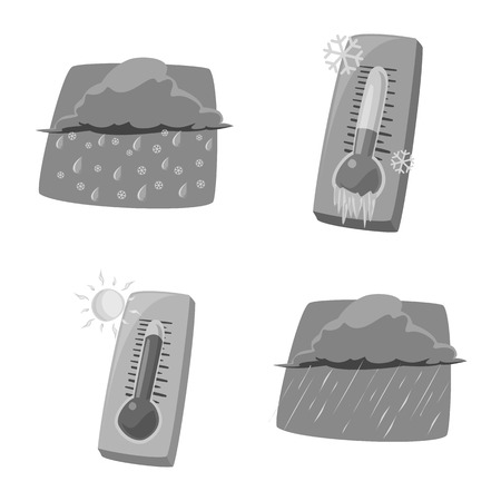 Vector illustration of weather and climate icon. Collection of weather and cloud stock vector illustration.