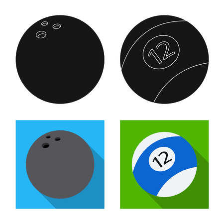 Vector illustration of sport and ball symbol. Collection of sport and athletic vector icon for stock.