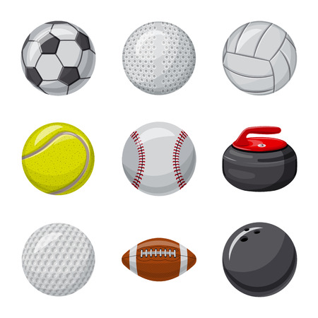 Isolated object of sport and ball sign. Set of sport and athletic stock vector illustration.