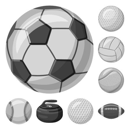 Isoliertes Objekt des Sports und des Ballzeichens. Sammlung von Sport- und Sportvektorsymbolen für Aktien.