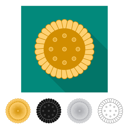 Isolated object of biscuit and bake icon. Collection of biscuit and chocolate vector icon for stock. Illustration