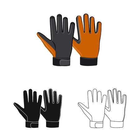 Isolated object of glove and winter sign. Collection of glove and equipment stock symbol for web. Banque d'images - 112840580