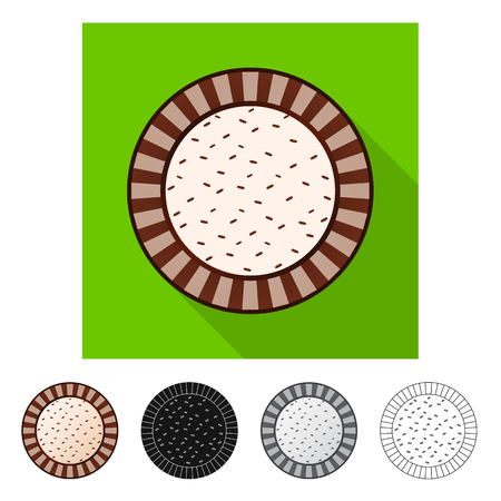Isolated object of biscuit and bake logo. Set of biscuit and chocolate stock symbol for web.