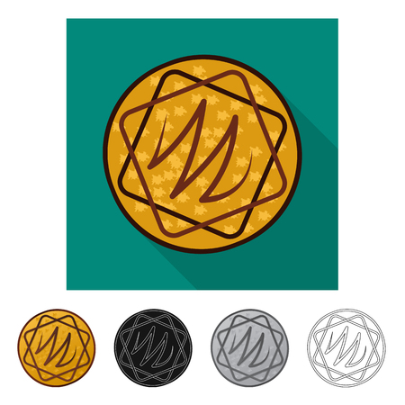 Isolated object of biscuit and bake symbol. Collection of biscuit and chocolate vector icon for stock. Illustration