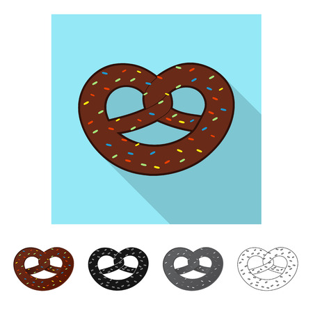 Vector design of biscuit and bake icon. Collection of biscuit and chocolate stock vector illustration.