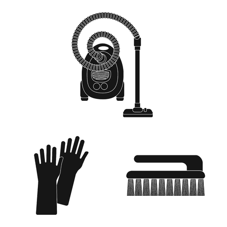 Isolated object of cleaning and service sign. Set of cleaning and household stock vector illustration.