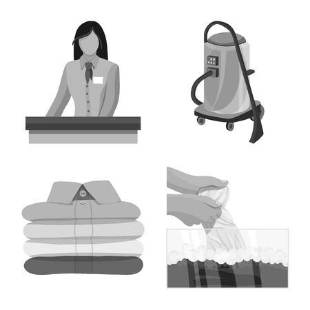 Vector illustration of laundry and clean logo. Set of laundry and clothes stock vector illustration.