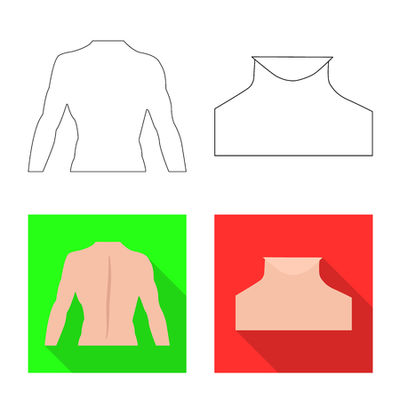 Isolated object of human and part sign. Collection of human and woman vector icon for stock.