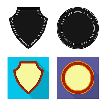 Isolated object of emblem and badge icon. Collection of emblem and sticker stock symbol for web. Stock Illustratie