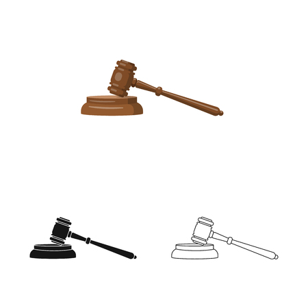 Vector design of law and lawyer sign. Collection of law and justice stock symbol for web. 일러스트
