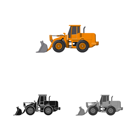 Isolated object of build and construction icon. Set of build and machinery vector icon for stock.