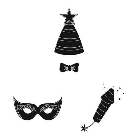 Vector illustration of party and birthday symbol. Collection of party and celebration stock vector illustration. Illusztráció