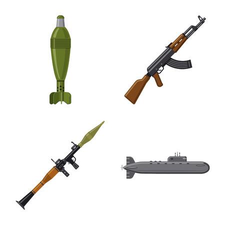 Conception de vecteur de symbole d'arme et d'arme à feu. Collection de symbole boursier d'armes et d'armées pour le web.