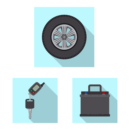 Vector design of auto and part symbol. Set of auto and car stock vector illustration. Standard-Bild - 112852079