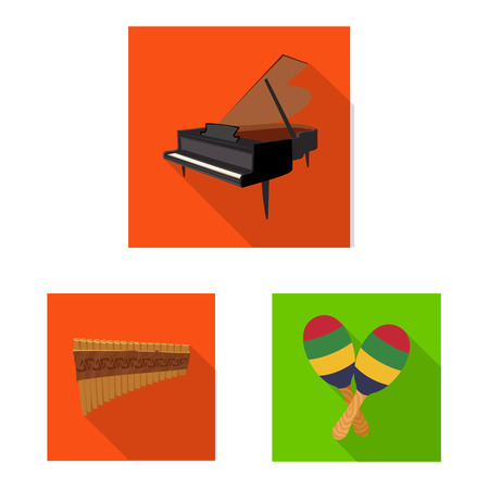 Vector illustration of music and tune logo. Collection of music and tool vector icon for stock.