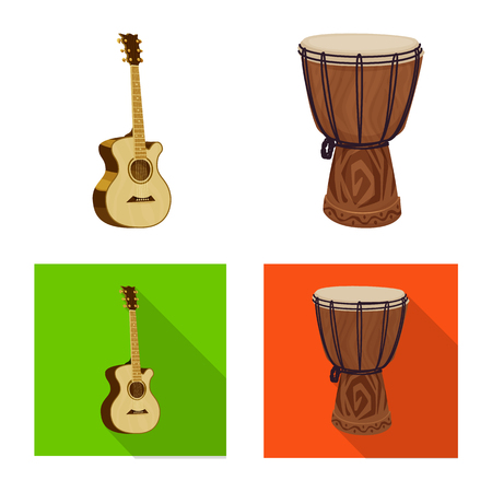 Isolated object of music and tune logo. Collection of music and tool stock symbol for web. Logo
