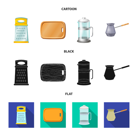 Vector design of kitchen and cook icon. Set of kitchen and appliance stock symbol for web.
