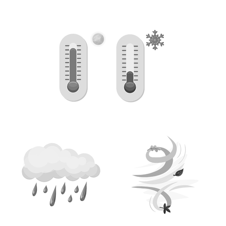 Vector design of weather and climate symbol. Collection of weather and cloud vector icon for stock.
