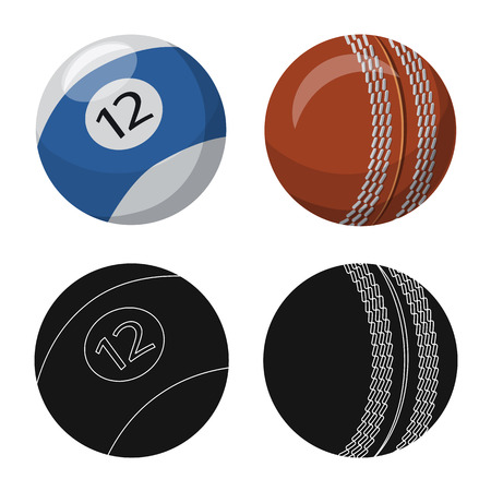 Isolated object of sport and ball logo. Collection of sport and athletic vector icon for stock.