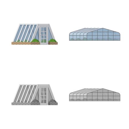 Objet isolé du symbole de serre et de plante. Collection de serre et jardin symbole boursier pour le web.